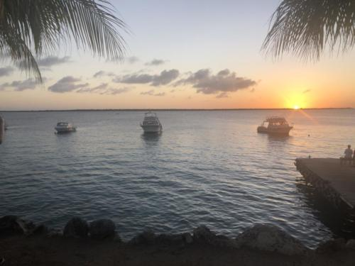 Sunset from the dive resort.