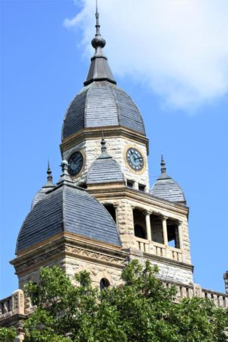 The courthouse roof.