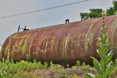 An old oil tank, along Butterworth Avenue.